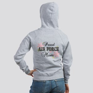 Air Force Mom [fl camo] Women's Zip Hoodie